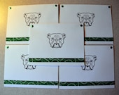 English BULLDOG Bulldawg dog note cards card gift hand crafted 5 pack rescue group