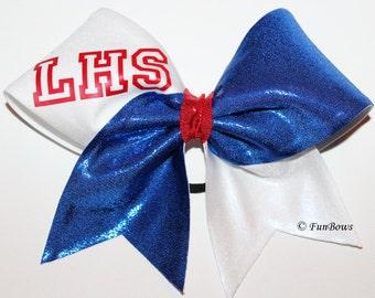 Awesome School or Recreational Cheerleading Bow - Custom School Initials