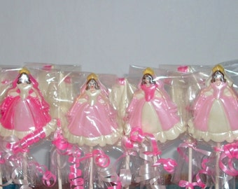 Chocolate Princess Lollipops