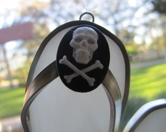 Skull and Crossbones Flipflop Suncatcher