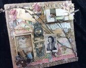 Altered Art Mixed Media Collage Canvas for Mom