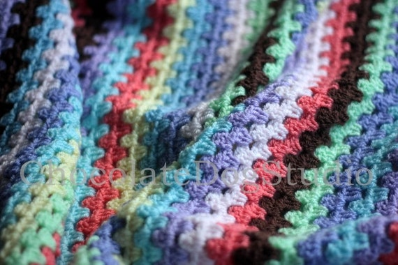 Crochet afghan / blanket ,  granny square  1230