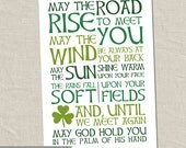 Irish Blessing Digital Art - May the road rise to meet you - digital printable file - instant download