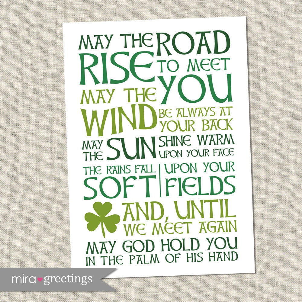 Irish Blessing Digital Art May the road rise to meet youIrish Proverbs About Life