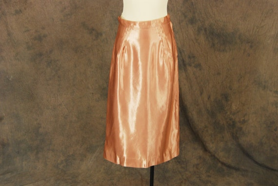 Pink Satin Pencil Skirt 9