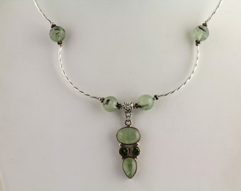 Prehnite Necklace Set. Listing  98405623