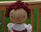 Primtive Annie Rag Doll Handmade