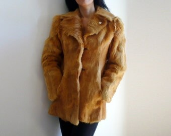 VALERIE French Vintage Brown Fur Fitted Jacket