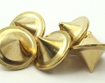 3 Raw Brass Ufo Pendant (18x19.50mm)  D106