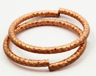 2 Raw Copper Bracelet Tube (6mm)
