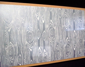 Cream Wood..12x24 Magnet Dry Erase Steel Memo Board / Housewarming Friend Gift / Wall Decor / Office Decor / Organization / Desk  Accessory