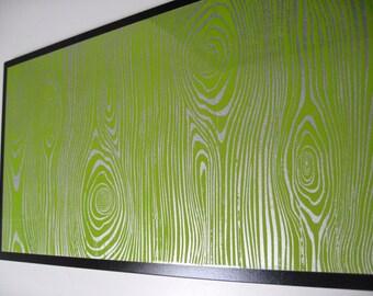 12X24 Lime Wood ..Magnet Dry Erase Steel Memo Board / housewarming friend gift / office decor / organization / desk / dorm decor / message