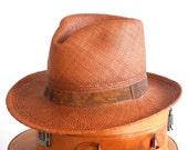 Panama Fedora Hat- Straw Fedora Hat- Men's Hat- Spring Fashion- Women's Hat- Men's Summer Hat- Men's Straw Hat- Panama Straw Hat- Panama Hat