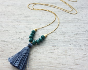 On Sale 20% Off, Andaman Necklace, beach necklace, tassel necklace