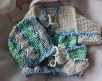 6 months Baby sweater set