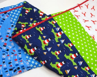 Nautical baby quilt- lighthouses, lobsters, sail boats and nautical flags- READY TO SHIP via Priority Mail