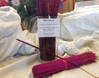 Romance Life Affirming Incense -11 inch Double Dipped  and Handcrafted
