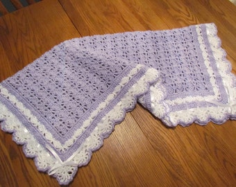 HEIRLOOM LACE BABY AFGHAN PATTERN Sewing Patterns for Baby