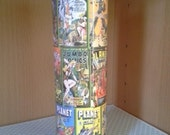 Comic Book Cover Photos - Tall Pillar Novelty Candle-unscented