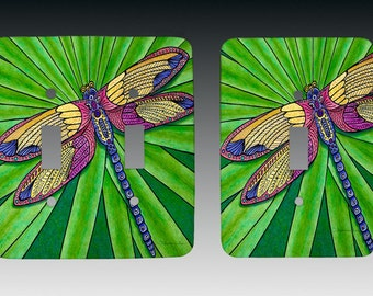 Dragonfly Switchplate, Lightswitch Cover, Lightswitch Plate