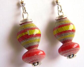 Paper Bead Jewelry - Earrings - #1221