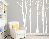 Birch tree wall decal for nursery and home DB334