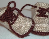 CROCHET PATTERN Baby Hiking Work Boots Booties Shoes 0 to 12mo Boy Boys Girl Girls Babies skill level intermediate
