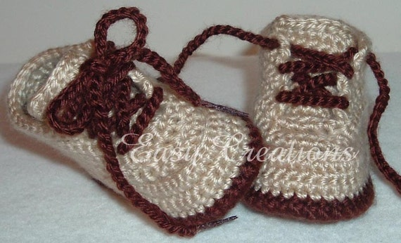CROCHET PATTERN, Baby Hiking Work Boots, Booties, 0 to 12mo, Boy, Girl, skill level intermediate