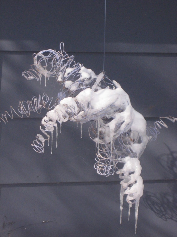 Sale 25 off flying dog wire sculpture any color for Dog wire art