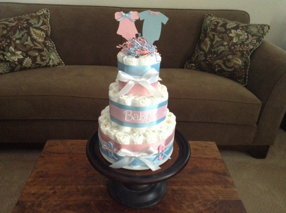 gender reveal diaper cake baby shower centerpiece other styles and