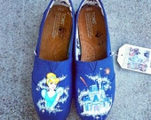 Custom Shoes! Cinderellas Castle & Cinderella - Made to Order - All sizes can be made - Other designs can be made!