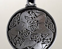 Celtic Jewelry Epona Horse Pendant in Fine Pewter