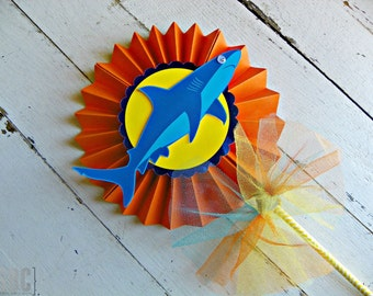 Shark Attack Centerpiece Pinwheel...Set of 1 Pinwheel