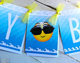 Make A Splash Happy Birthday Banner...Set of 1 Happy Birthday Banner