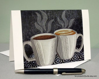 "Art Quilt Note Card - ""Good Morning"""