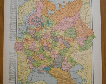 Russia, 1907 Antique vintage Map
