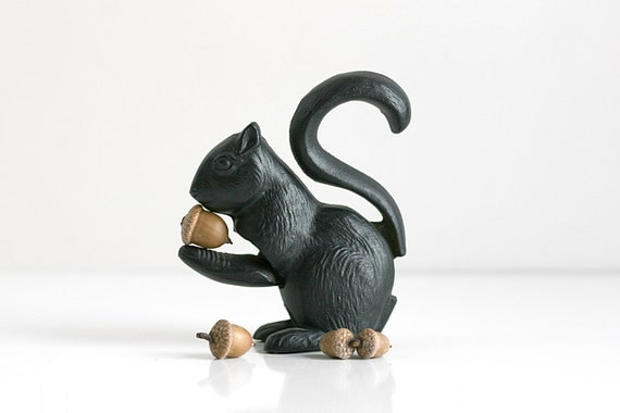 Vintage cast iron squirrel figural nut cracker - Squirrel nut crackers ...