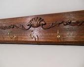 Decorative, Carved, Mahogany Key Rack