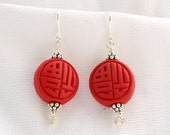 Round Cinnabar Earrings...