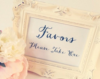 Wedding sign, 5x7 Wedding sign, 8x10 Wedding sign, Favors Please take one