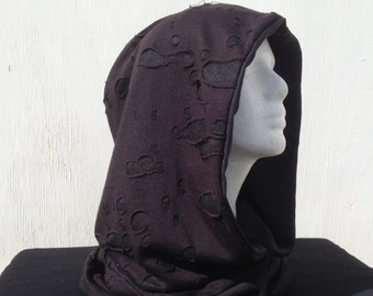 Reversible Black Mesh Hood