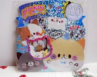Kawaii Sticker Flakes - Fluffy Kittens  - 61 Pieces (45395)