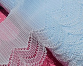 Vintage Lace Trim Pleated Trim Nylon Ruffle Light Light Blue