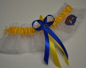 Handmade wedding garter keepsake WOLVERINE  Marvel Super Hero wedding garter