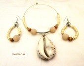BIG COWRIE II cowrie shell necklace set