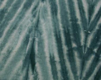 Green Organic Cotton Gauze Fabric Shibori Hand Dyed Organic Scrim Nunofelting Material