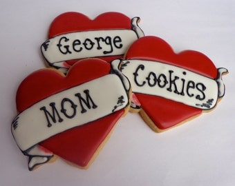 HEART On YOUR SLEEVE Giant Sugar Cookies, Set of 2