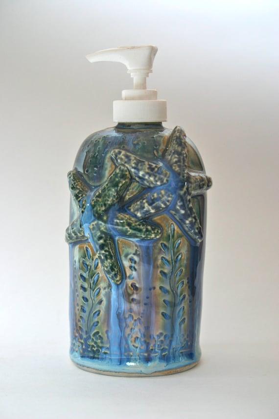 Star fish lotion soap dispenser by clayfantasea on etsy for Fish soap dispenser