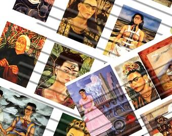 frida kahlo...digital collage sheet