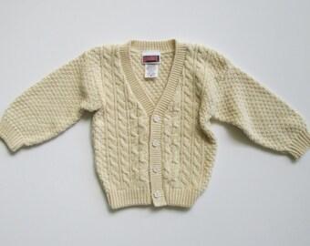 Childs Fisherman Cotton Cardigan